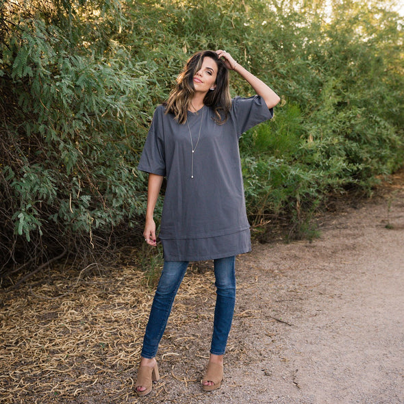 3Brunettes Oversized Boyfriend Tunic