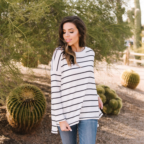 3Brunettes Stitch Stripe Tunic
