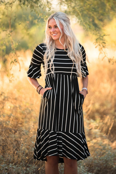 Stripe and Ruffle Dress