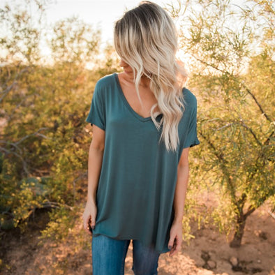 3Brunettes V-Neck Tunic Top