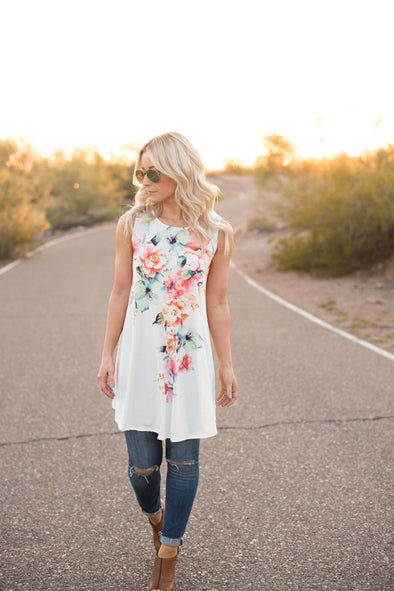 Watercolor Floral Tank