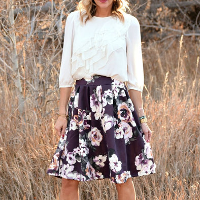 Winter Floral Skirt