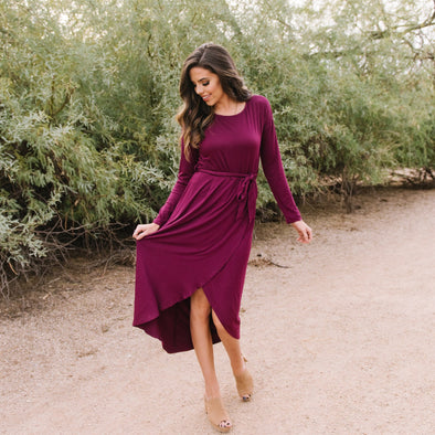 3Brunettes Winter Waist Tie Dress