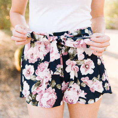 3Brunettes Wrap Floral Shorts