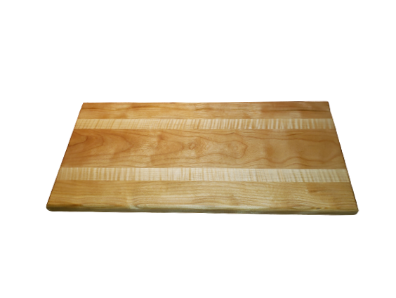 Cherry with flamed Eastern Maple