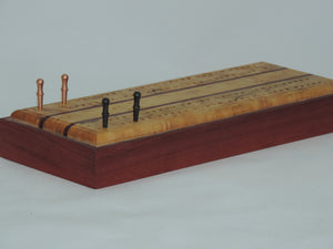 Crib board - Re-purposed 50-year-old Bird's Eye Maple, Purple Heart