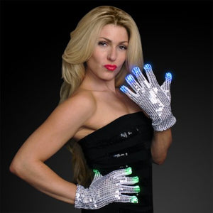 LED Sequined Gloves
