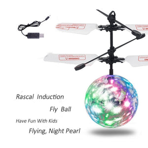 Flying RC Ball Led Flashing Light Aircraft Helicopter Infrared Induction RC Toy