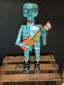 Guatemalan Day of the Dead Skeleton with Guitar and boots