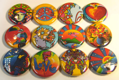 Cool PETER MAX ONE Inch Buttons