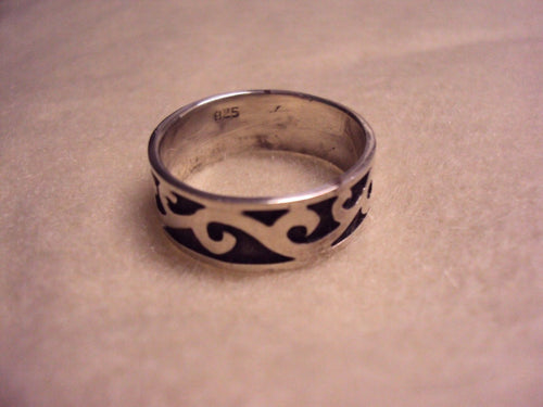 Vintage Wide Band Ring - 925 Sterling Silver