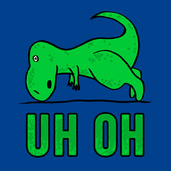 T-Rex Uh Oh Funny T-Shirt