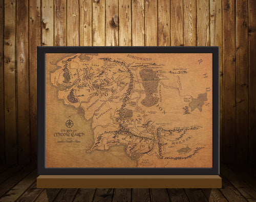 Map of Middle Earth, Lord of The Rings