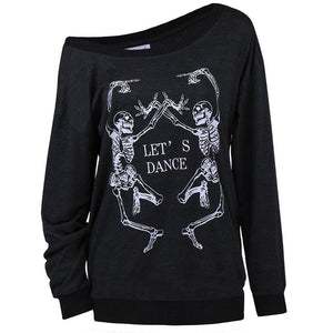 Sexy 2018 Skeleton Long Sleeve Shirt