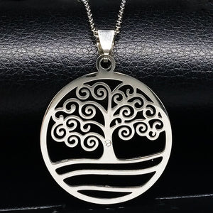 "2018 New Stainless Steel Tree of ""Fashion"" Life Necklace!"