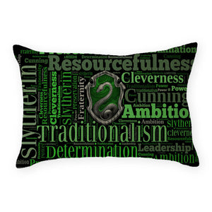 "18"" The 4 Houses Of Hogwarts Houses Linen Pillow Cases"