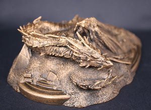 NEW 2018 Golden Smaug Statue