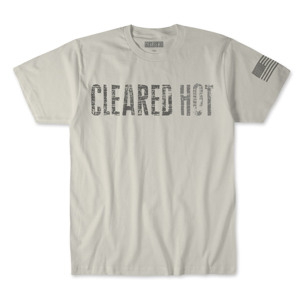 Cleared Hot Tee - Tan reflective