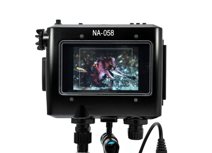 "NA-058 Housing for TVLogic VFM-058W 5.5"" Full HD Viewfinder Monitor with HDMI and SDI Bulkheads and Cables"