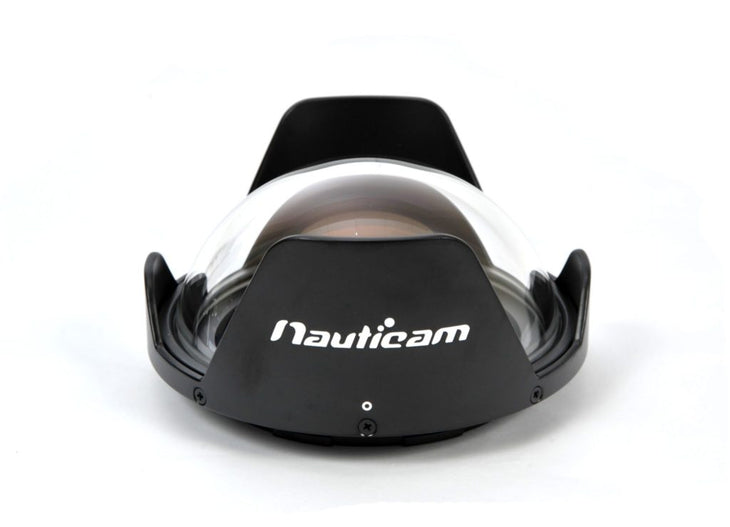 N120 140mm Optical-Glass Fisheye Dome Port ~with Removable Shade