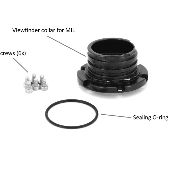 Viewfinder Collar Adaptor for 32201 (from A124466) and 32203 (from A218826) to Use on MIL housing
