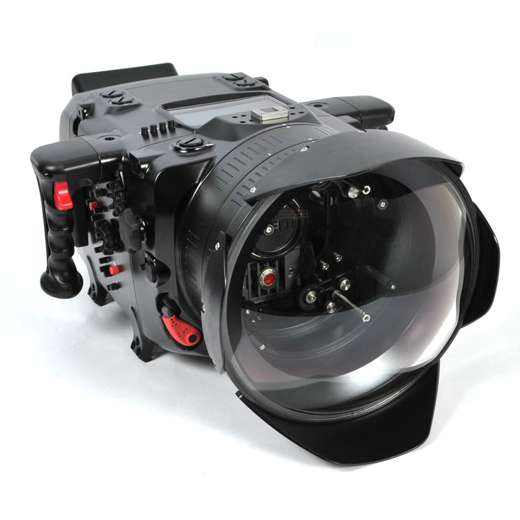 Digital Cinema System for Red Epic & Scarlet ~N200 Port for PL Lenses, RedTouch 7, Includes N200 250mm Optical-Glass Wide-Angle Dome Port, N200 Extension Rings 30, 40 and 50, and Lens Control Drive Shafts