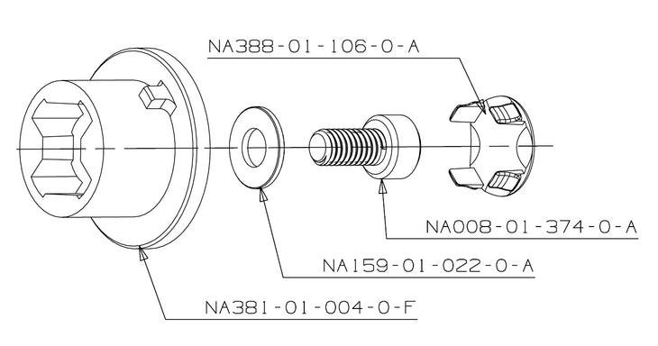 Center Axle for Housing Lock NA381-01-004-0-F