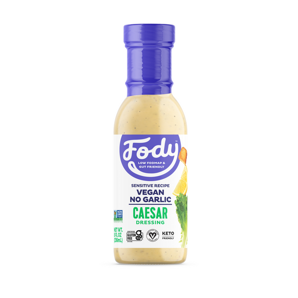 Low FODMAP <br><b><big>Caesar<br>Salad Dressing </big></b><br><small>No Onion, No Garlic, Vegan!</small>