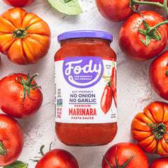 Low FODMAP <br><b><big>Marinara Sauce </big></b><br>(Large Format, 550g) <br><small>No Onion, No Garlic & Gluten-Free!</small>