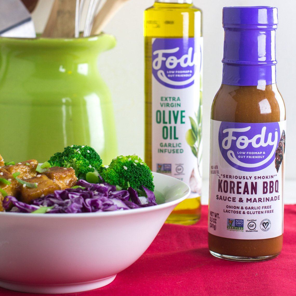 Low FODMAP <br><b><big>Korean BBQ <br>Sauce & Marinade </big></b><br><small>No Onion, No Garlic, Lactose & Gluten-Free!</small>