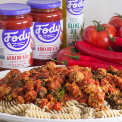 Low FODMAP <br><b><big>Arrabbiata Pasta Sauce </big></b><br><small>No Onion, No Garlic & Gluten-Free!</small>