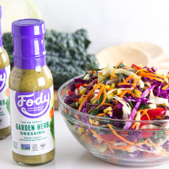 Low FODMAP <br><b><big>Garden Herb <br>Salad Dressing </big></b><br><small>Onion, Garlic, Lactose & Gluten Free</small>