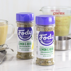 Low FODMAP <br><b><big>Lemon & Herb Seasoning </b></big><br>(Large Format, 65g) <br><small>Onion, Garlic & Gluten Free</small>