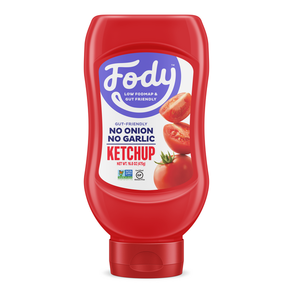 Low FODMAP <br><b><big>Ketchup </big></b><br><small>No Onion, No Garlic & Gluten-Free!</small>