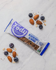 Low FODMAP <br> <b><big>Blueberry<br>Almond Bars </big></b><br>(Box of 12) <br><small>Lactose & Gluten Free</small>