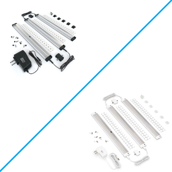 3 12 inch Panels LED Dimmable Under Cabinet Lighting - Deluxe Kit