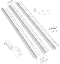 EShine White Finish 3 Extra Long 40 inch Panels LED Dimmable Under Cabinet Lighting - Deluxe Kit