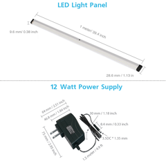 EShine | EShine Extra Long 40 inch Panels LED Dimmable Under Cabinet Lighting - Deluxe Kit