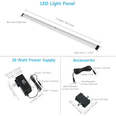 EShine | EShine 3 Extra Long 40 inch Panels LED Dimmable Under Cabinet Lighting - Deluxe Kit