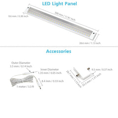 White Finish 12 inch - NO IR Sensor - LED Dimmable Panel (No Power Supply Included)