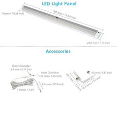 EShine | [New] White Finish Extra Long 20 inch-with IR Sensor-LED Dimmable Panel (No Power Supply Included)
