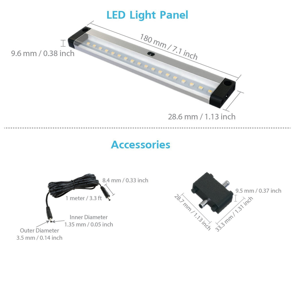 [New ] 7 inch - with IR Sensor - LED Dimmable Panel (No Power Supply Included)