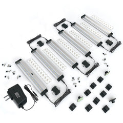[New] 6 Panels 7 inch Compact Size LED Dimmable Under Cabinet Lighting - Deluxe Kit