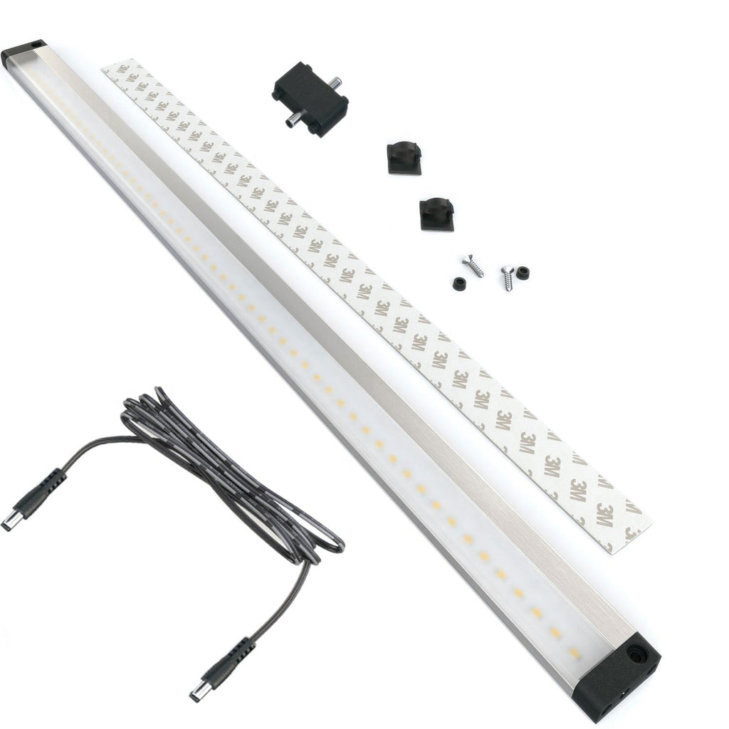 EShine | Extra Long 20 inch - No Sensor - LED Under Cabinet Lighting Panel with Accessories ( No Power Supply Included)