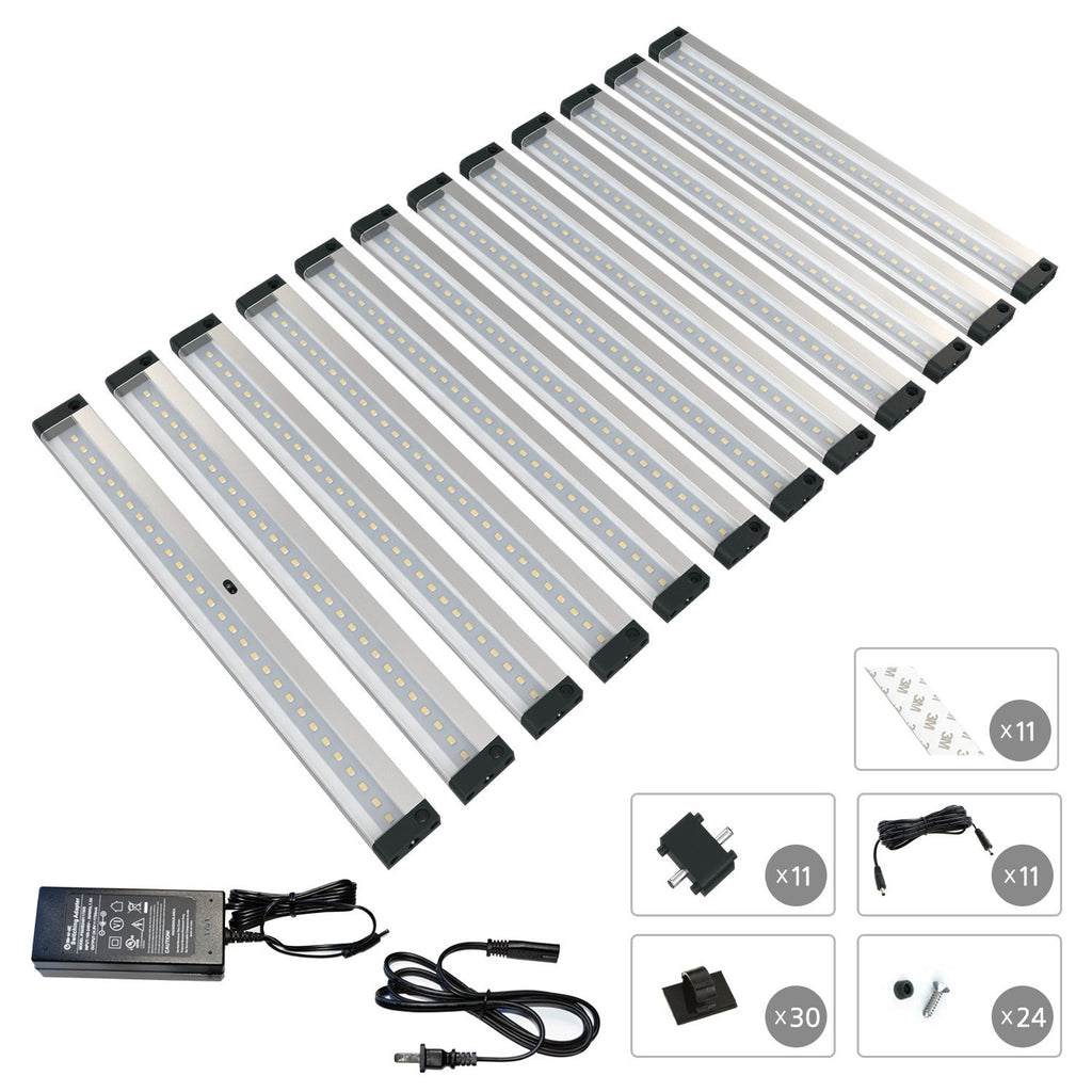 EShine | EShine 12 12 inch Panels LED Dimmable Under Cabinet Lighting - Deluxe Kit