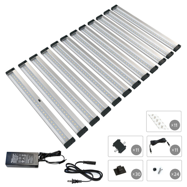 Le Dimmable Under Cabinet Lighting 3 Panel Deluxe Kit: EShine 12 12 Inch Panels LED Dimmable Under
