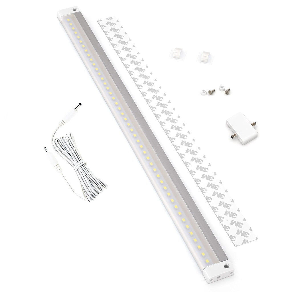 White Finish Extra Long 20 inch - NO IR Sensor - LED Dimmable Panel (No Power Supply Included)
