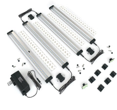 EShine | [New] 4 12 inch Panels LED Dimmable Under Cabinet Lighting - Deluxe Kit
