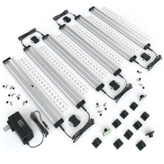EShine | [New] 6 12 inch Panels LED Dimmable Under Cabinet Lighting - Deluxe Kit