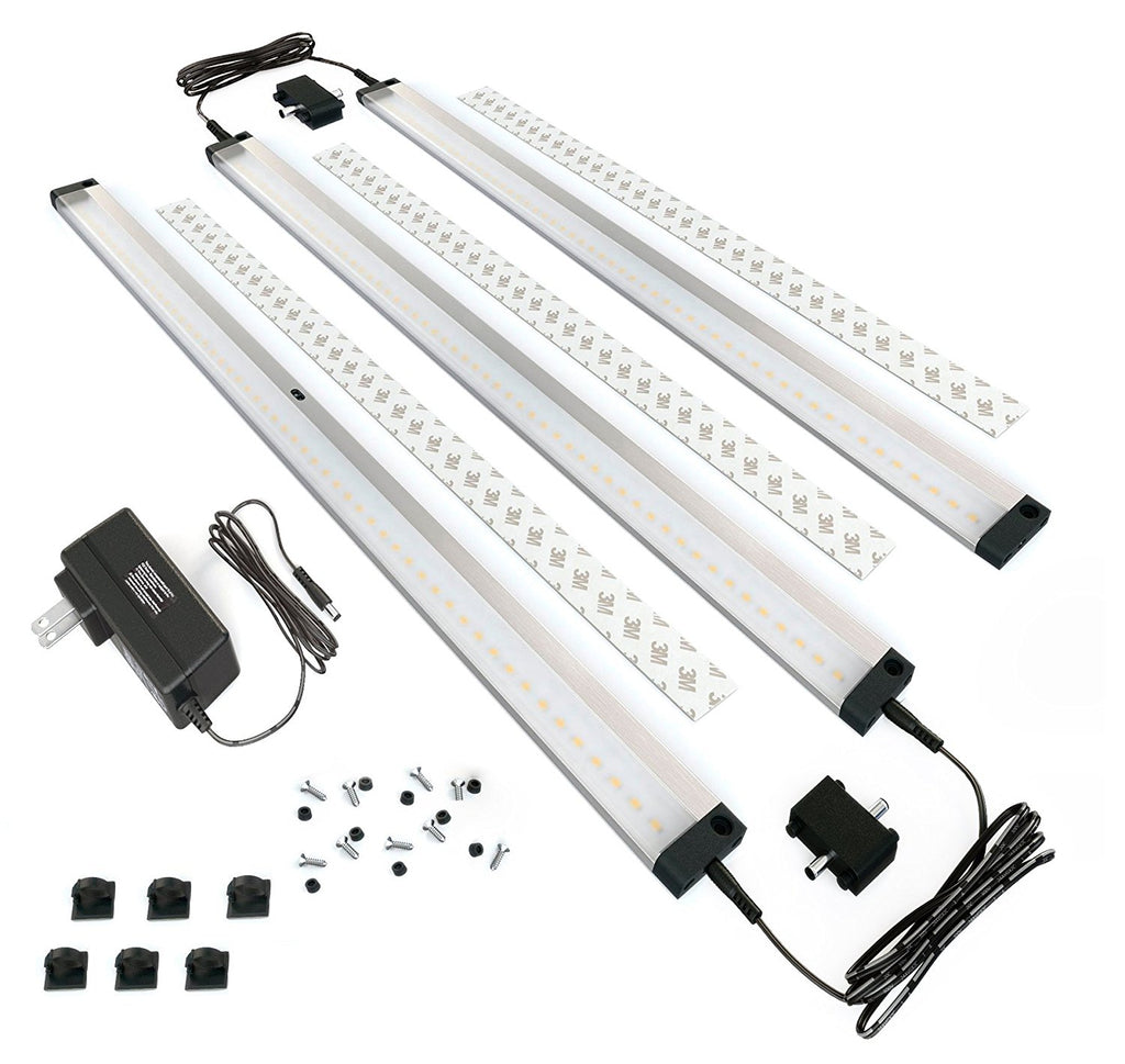 EShine | EShine 3 Extra Long 20 inch Panels LED Dimmable Under Cabinet Lighting - Deluxe Kit